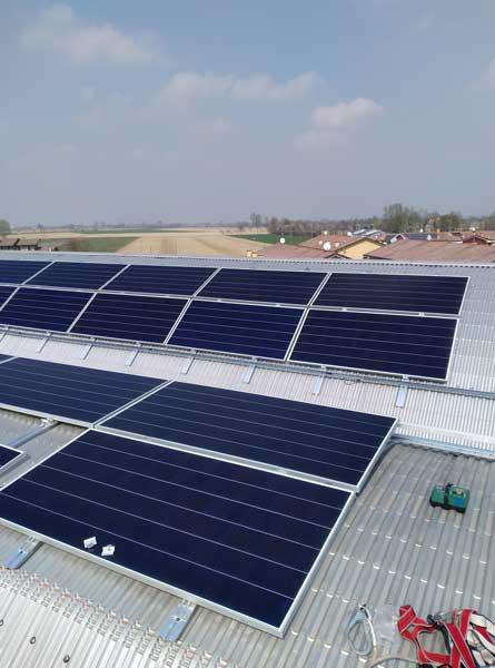 moduli fotovoltaici per impianto a padova